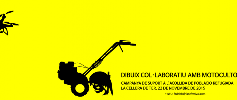 Dibuix col·laboratiu amb motocultor i drone